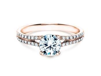 Verlobungsring Dynasty in 18K Roségold mit Diamant 1,27ct