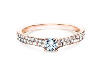 Verlobungsring Claire Petite in 18K Roségold mit Diamant 0,50ct
