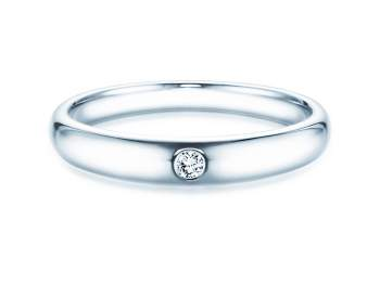 Verlobungsring Promise in Silber mit Diamant 0,03ct G/SI