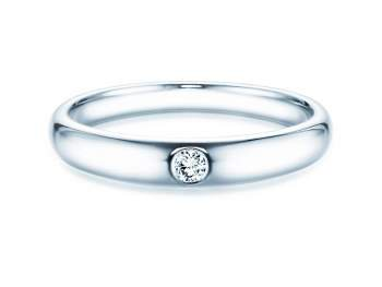 Verlobungsring Promise in Silber mit Diamant 0,05ct G/SI