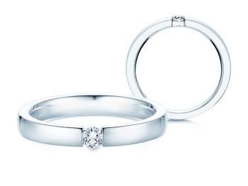 Verlobungsring Infinity in Silber und Diamant 0,10ct G/SI
