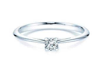 Solitärring Delight in Silber mit Diamant 0,15ct G/SI