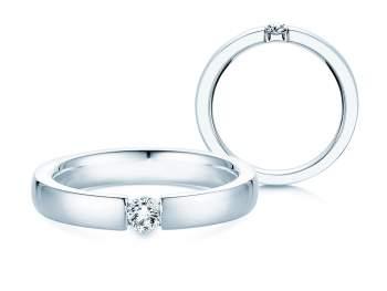 Verlobungsring Infinity in Silber und Diamant 0,15ct G/SI