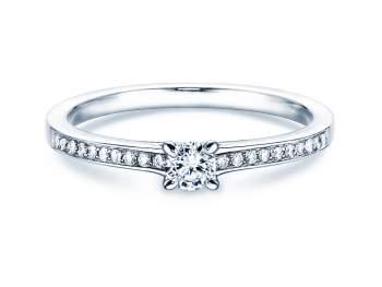 Verlobungsring Modern Pavé in Silber