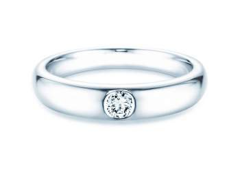Verlobungsring Promise in Silber mit Diamant 0,15ct G/SI