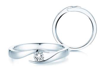 Verlobungsring Twist in Silber