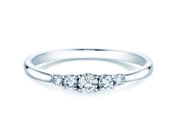 Verlobungsring 5 Diamonds in Silber