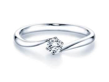 Verlobungsring Devotion in Silber mit Diamant 0,25ct H/SI