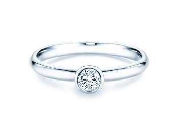 Solitärring Eternal in Silber mit Diamant 0,25ct H/SI