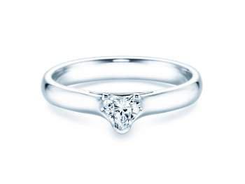 Verlobungsring Heart in Silber mit Diamant 0,25ct