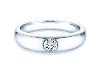 Verlobungsring Promise in Silber mit Diamant 0,25ct H/SI