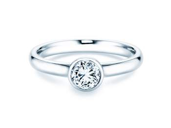 Solitärring Eternal in Silber mit Diamant 0,50ct H/SI