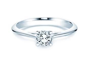 Solitärring Heaven 4 in Silber mit Diamant 0,50ct H/SI