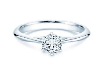Solitärring Heaven 6 in Silber mit Diamant 0,50ct H/SI