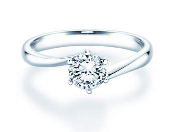 Verlobungsring Devotion in Silber mit Diamant 0,75ct H/SI
