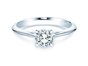Solitärring Heaven 4 in Silber mit Diamant 0,75ct H/SI