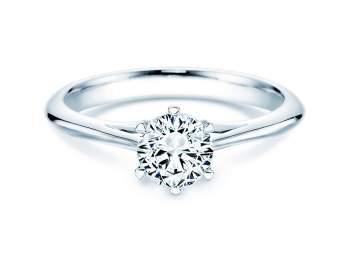 Solitärring Heaven 6 in Silber mit Diamant 0,75ct H/SI