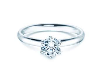 Verlobungsring Classic in 14K Weißgold mit Diamant 0,75ct H/SI