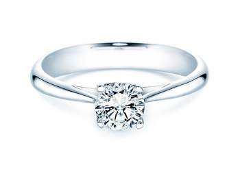 Solitärring Delight in 14K Weißgold mit Diamant 0,75ct H/SI