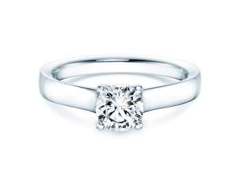 Verlobungsring Modern in 14K Weißgold mit Diamant 0,75ct H/SI