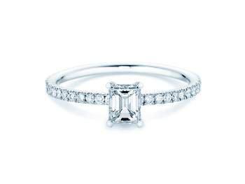 Verlobungsring Elaine in Weißgold mit Diamant 0,86ct