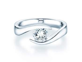 Verlobungsring Twist in 14K Weissgold mit Diamant 1,00ct G/IF