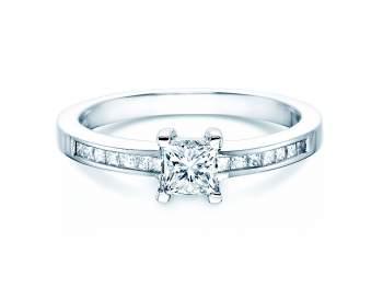 Diamantring Chloe in 18K Weissgold mit Diamant 0,84ct