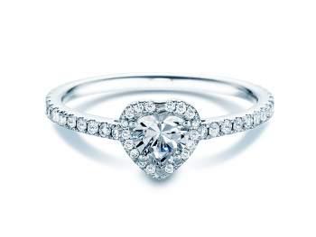 Diamantring Pure Love in 18K Weißgold mit Diamant 0,93ct