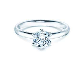 Verlobungsring Classic in 18K Weißgold mit Diamant 1,00ct G/IF