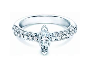 Verlobungsring Louis in 18K Weißgold mit Diamant 1,00ct