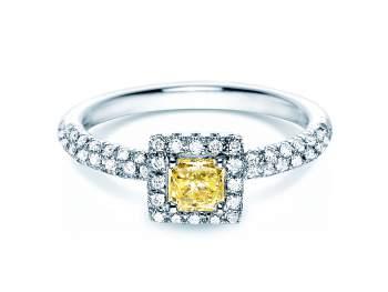 Verlobungsring Sophie in 18K Weißgold mit Diamant 1,02ct