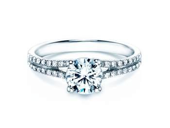 Verlobungsring Dynasty in 18K Weissgold mit Diamant 1,27ct