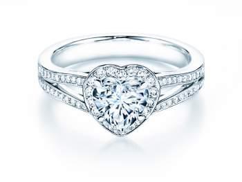 Verlobungsring Flame in 18K Weißgold mit Diamant 1,54ct
