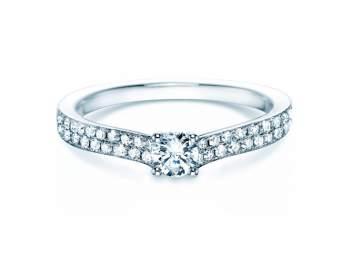 Verlobungsring Claire Petite in 18K Weißgold mit Diamant 0,50ct