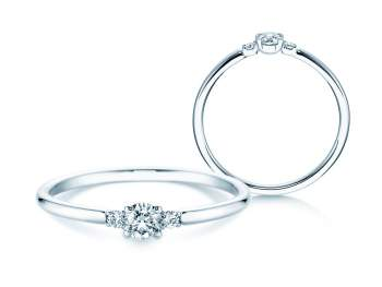 Verlobungsring Glory Petite in 18K Weißgold mit Diamanten 0,20ct
