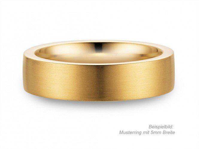 Goldring matt  Herrenring Modern in Gelbgold | JUWELIER.de