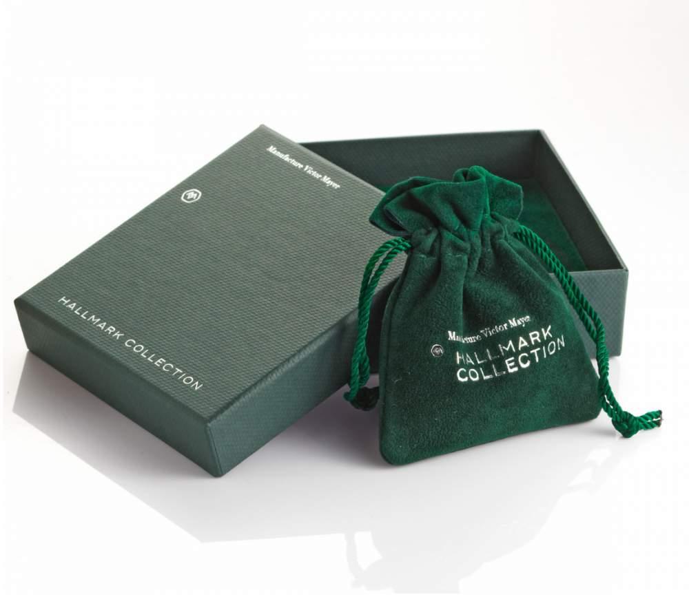 handgefertigte Manschettenknöpfe Onyx Classy in Silber (925/‑), 16,5 x 13,6mm bei JUWELIER.de