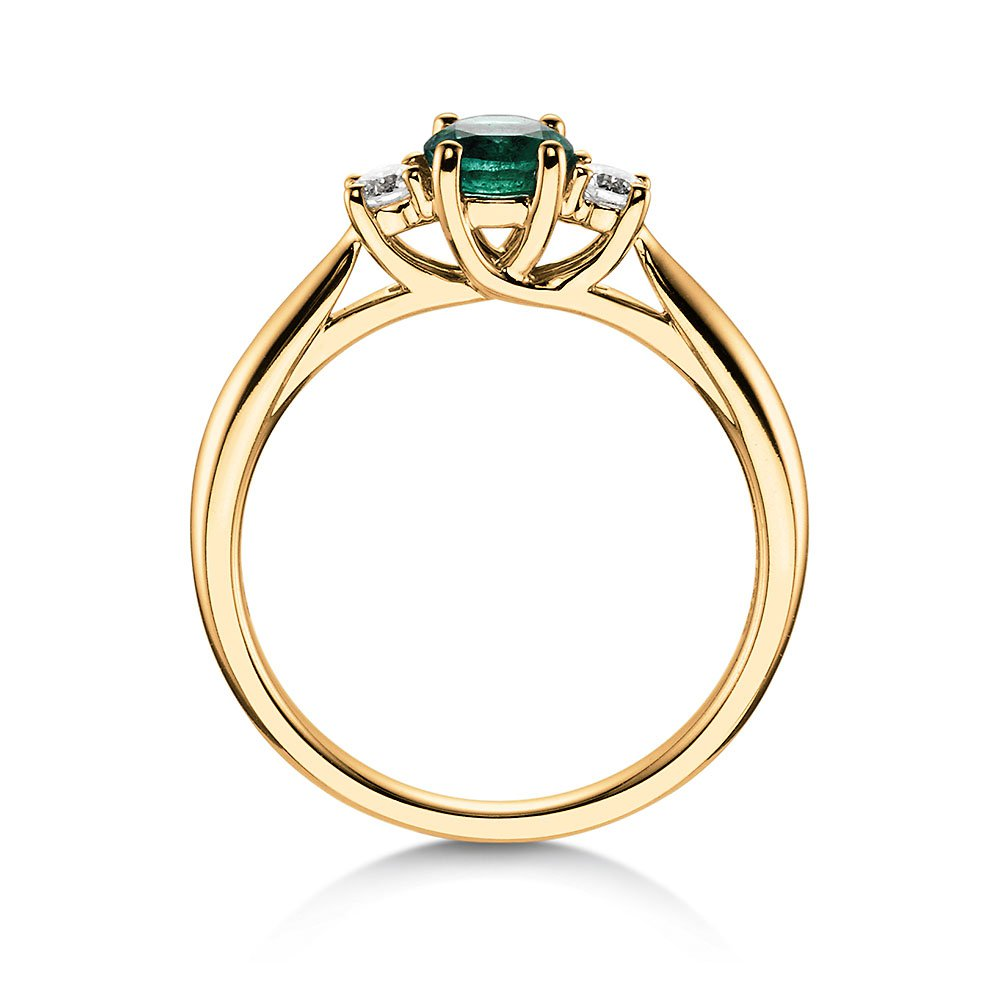 Smaragdring Shining Emerald in 14K Gelbgold bei JUWELIER.de