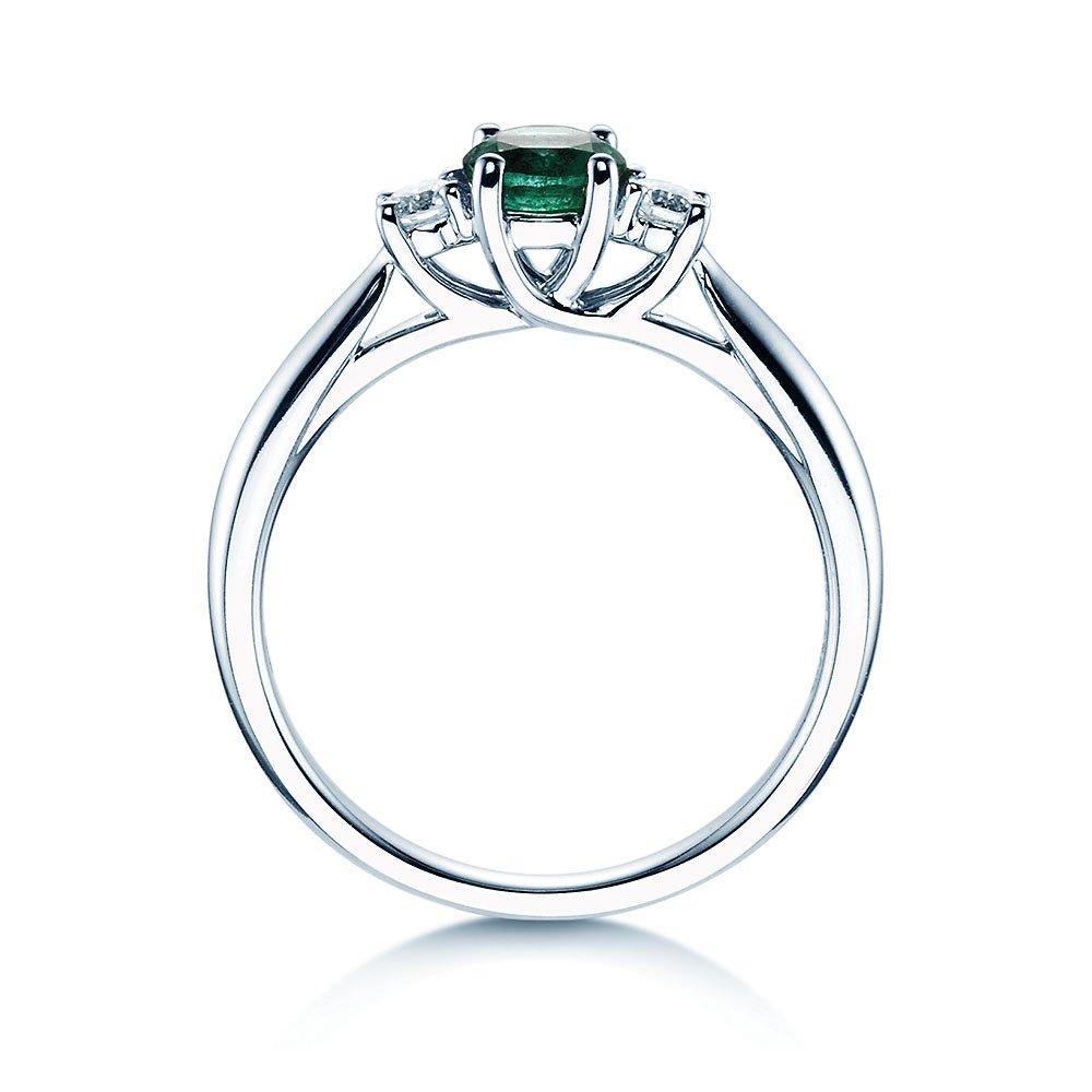 Smaragdring Shining Emerald in 14K Weißgold bei JUWELIER.de