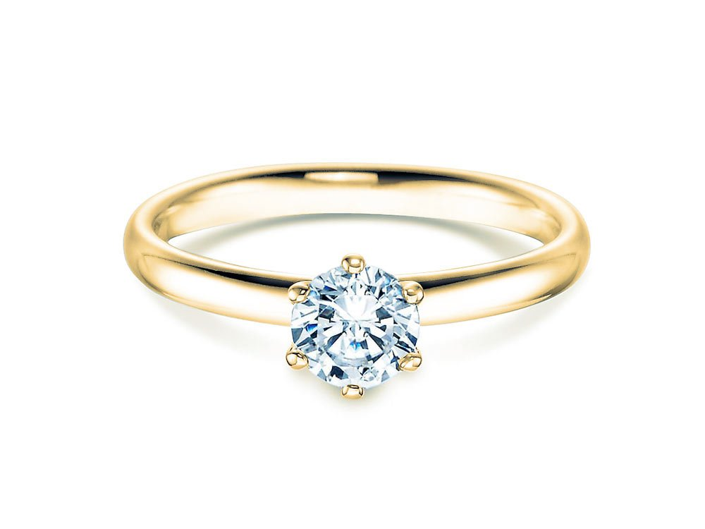 Verlobungsring Classic in 18K Gelbgold mit Diamant 0,60ct H/SI bei JUWELIER.de