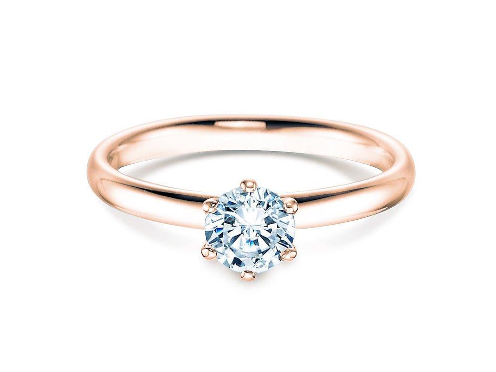 Verlobungsring Classic in 14K Roségold mit Diamant 0,60ct G/SI bei JUWELIER.de