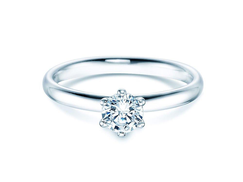Verlobungsring Classic in 18K Weißgold mit Diamant 0,50ct H/SI bei JUWELIER.de