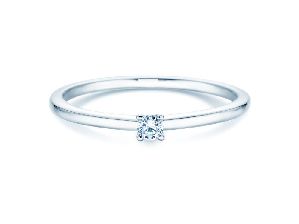 Verlobungsring Classic 4 in Silber mit Diamant 0,05ct G/SI bei JUWELIER.de