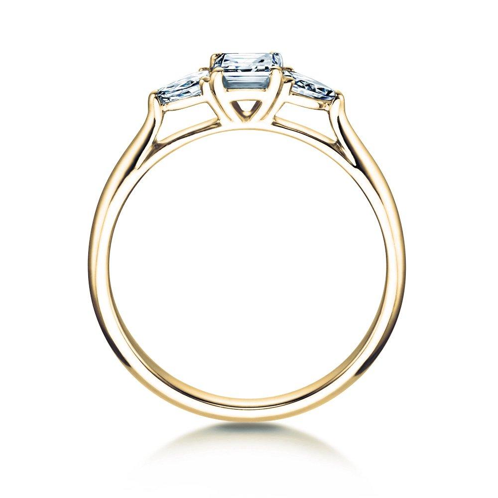 Verlobungsring Glory Princess in 14K Gelbgold mit Diamanten 0,53ct bei JUWELIER.de