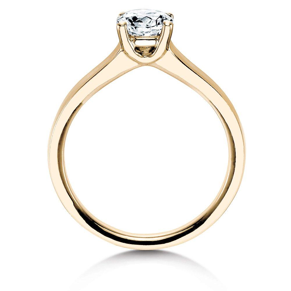 Verlobungsring Modern in 14K Gelbgold mit Diamant 0,75ct H/SI bei JUWELIER.de