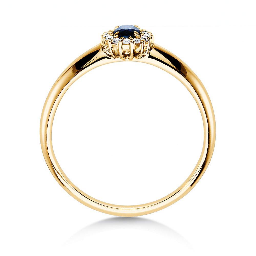 Saphir-Verlobungsring Jolie in 14K Gelbgold mit Diamanten 0,06ct bei JUWELIER.de