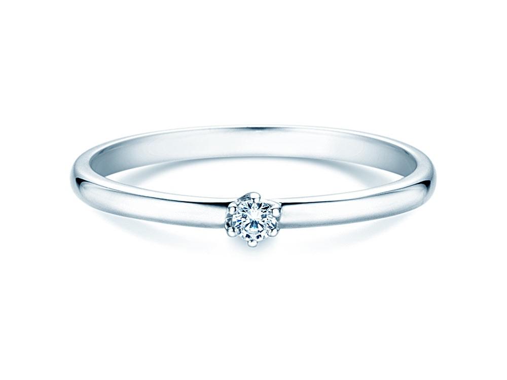 Verlobungsring Melody in 18K Weißgold mit Diamant 0,05ct G/VS bei JUWELIER.de