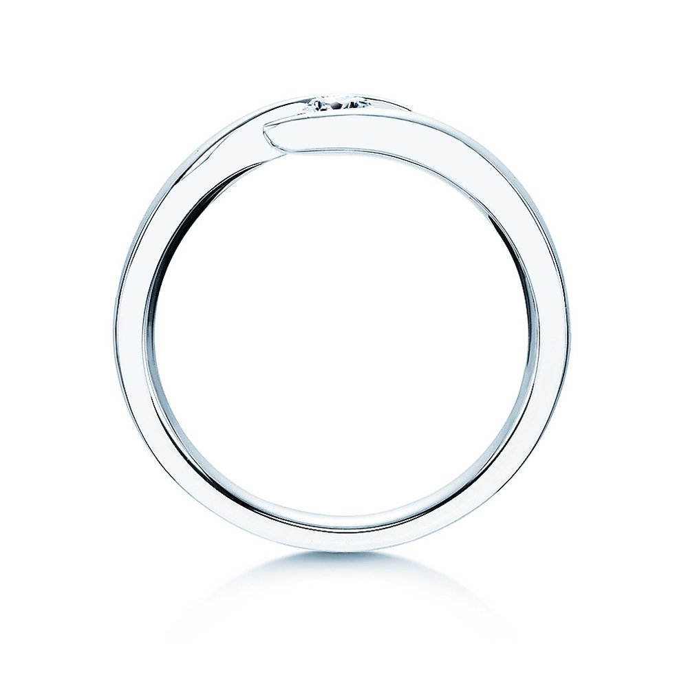 Verlobungsring Twist in Platin mit Diamant 0,15ct G/IF bei JUWELIER.de