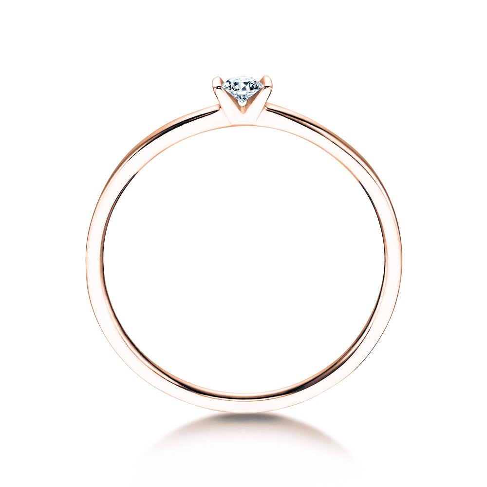 Solitärring Love in Roségold bei JUWELIER.de