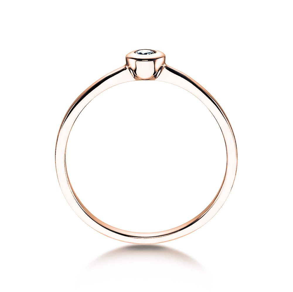 Solitärring Eternal Petite in 14K Roségold mit Diamant 0,05ct bei JUWELIER.de